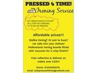 Pressed 4 time ironing service - Friday-Ad