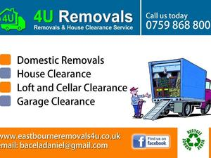 Removals 4U, clearance service, man with Luton van in Eastbourne