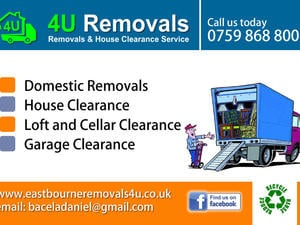 Domestic removals, house clearance, man with van in Eastbourne