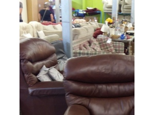Brown Leather Armchair in Eastbourne