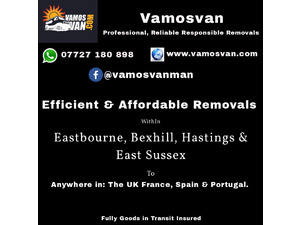 Man and Van Removals in Eastbourne, Bexhill, Hastings and East Sussex in St. Leonards-On-Sea